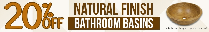 20% OFF Natural Finish Bamboo Basins