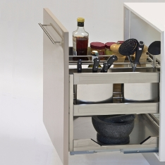 Kitchen Pull-Out Organisers & Kitchen Cupboard Pull Out Organisers | Under Bench Storage