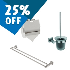25% Off Bathroom Accessories