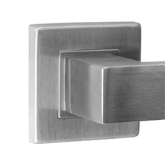 Lever Door Handles - on Square Rose