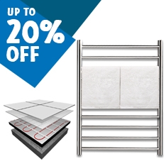 Up to 20% off Heated Towel Rails