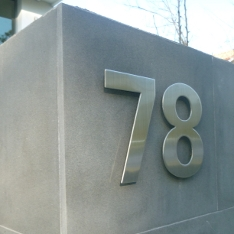 Stainless Steel House Numbers Modern Outdoor House Numbers