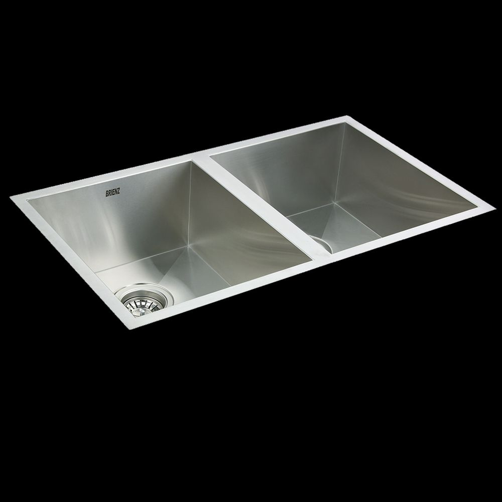 Stainless Steel Kitchen Sink Double Bowl Square Corners