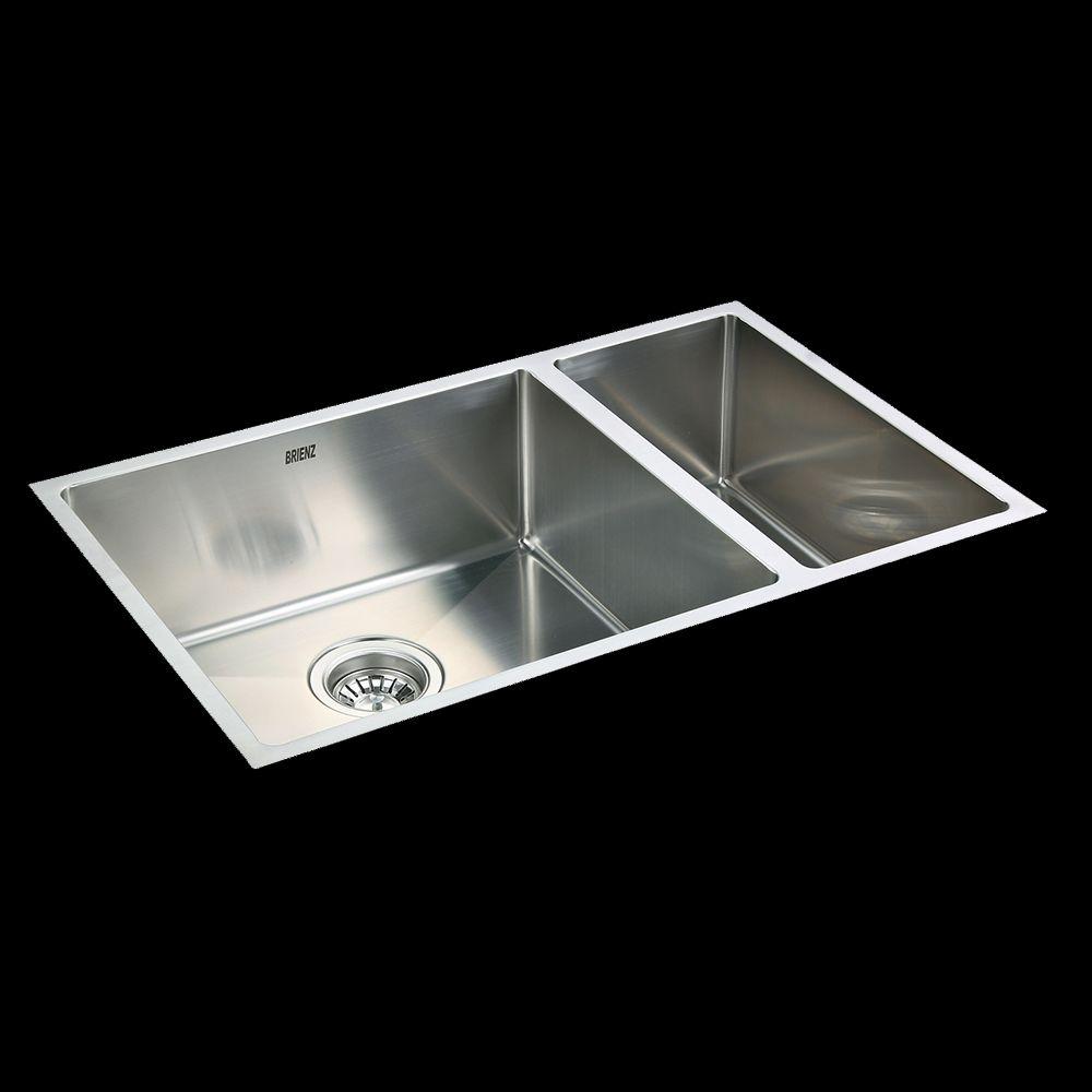 Stainless Steel Kitchen Sink - 1 1/2 Bowl Round Corners - Under/Top Mount