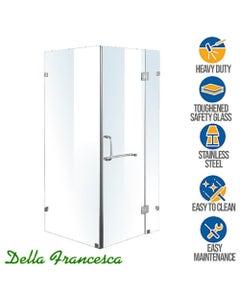 1000x1000 frameless shower screen square enclosure
