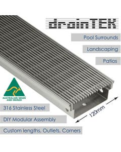120mm outdoor wedge wire linear drainage channel