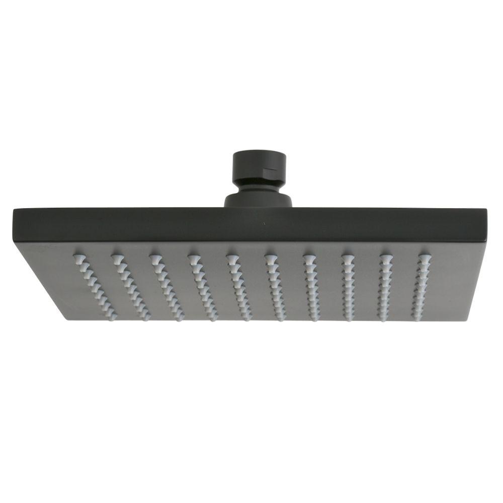 Bathroom 200mm Square Rain Shower Head Matte Black eBay