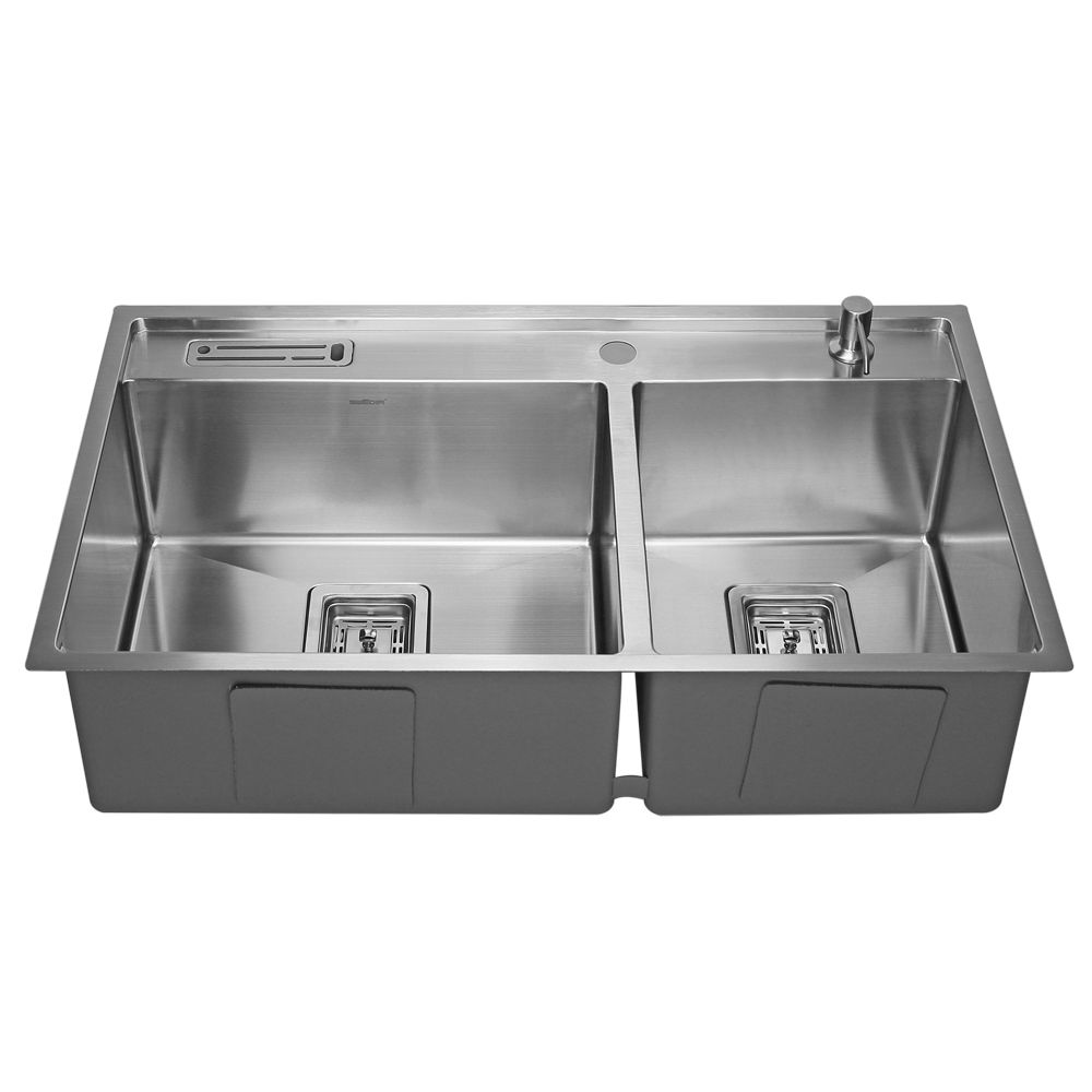 Clearance Sale - SWEDIA Kikki Chef Stainless Steel Sink - 820mm 60:40 Bowl - 1.5mm Thick