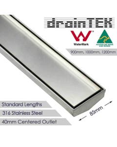 316 stainless steel shower grate 85mm wide