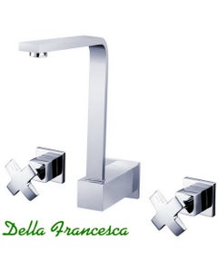 Marco Three Piece Basin or Bath Tap and Spout Set - Wall Mount