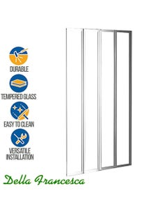 4 fold shower screen by della francesca with feature stickers