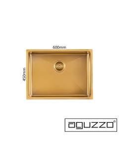 aguzzo brushed gold kitchen sink