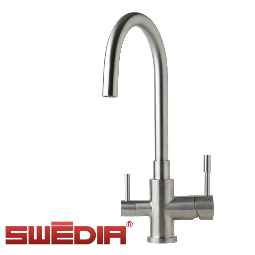 SWEDIA Otto - Stainless steel kitchen sink mixer with filtered water outlet