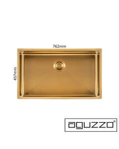 brushed gold deep kitchen sink
