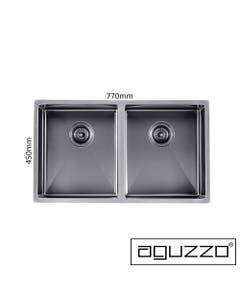 double bowl 770mm grey kitchen sink