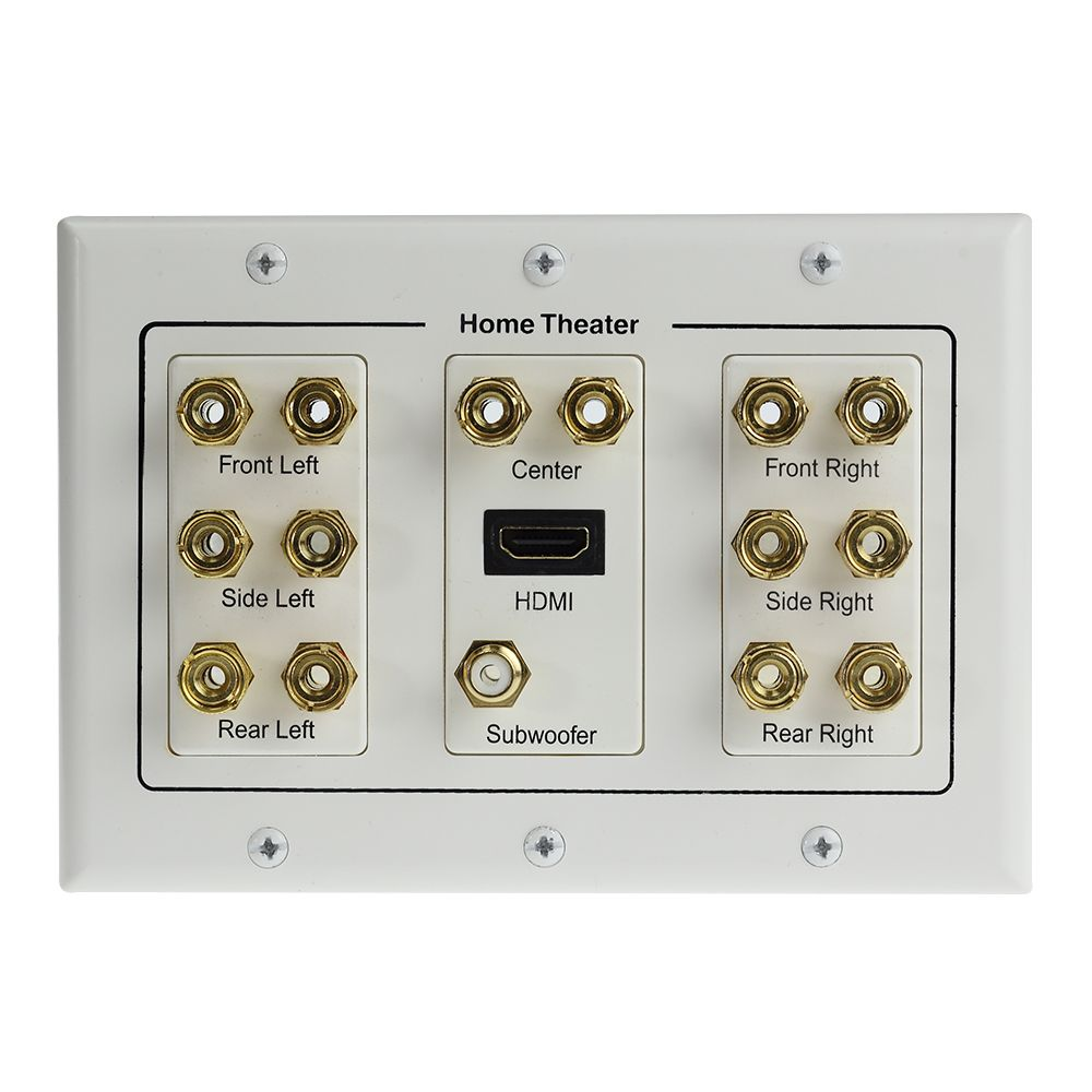 Home Theater Wall Plates home theatre 7.1 speaker wall plate with hdmi - includes mount
