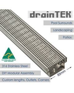 85mm outdoor wedge wire linear drainage channel
