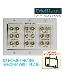 Home Theatre wall plate with subwoofer