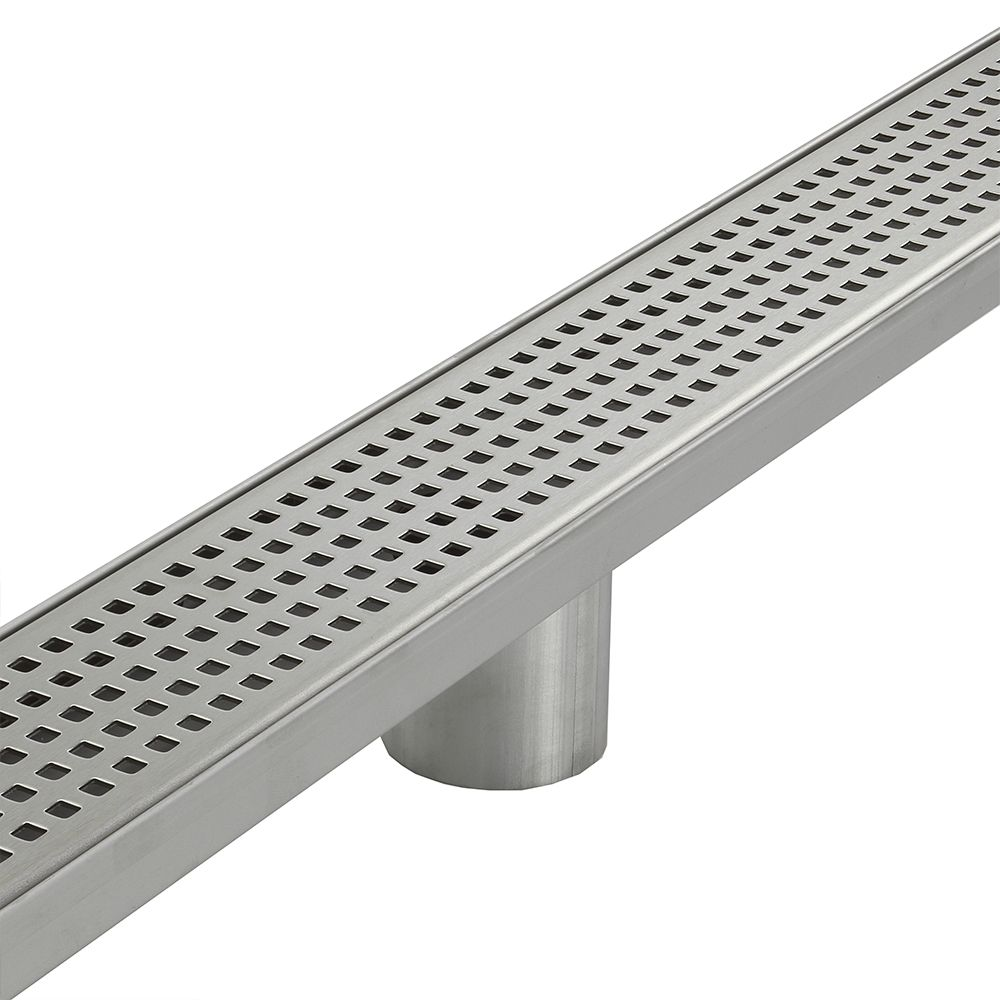Aqua Vera Stainless Steel Shower Grate - Square Hole