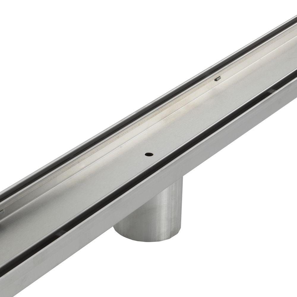 Aqua Vera Stainless Steel Shower Grate - Tile Insert