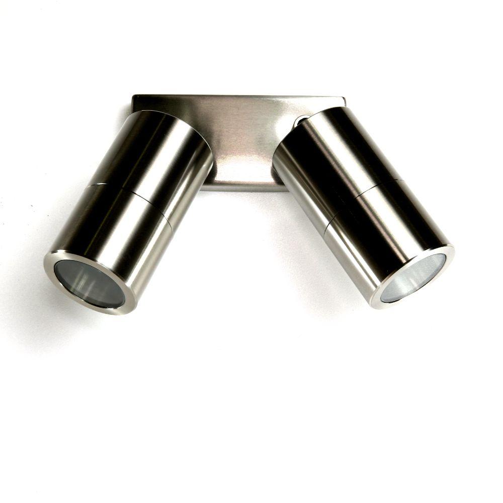 Sorrento Double Spot Light - 240V LED - 3mm 316 Stainless Steel