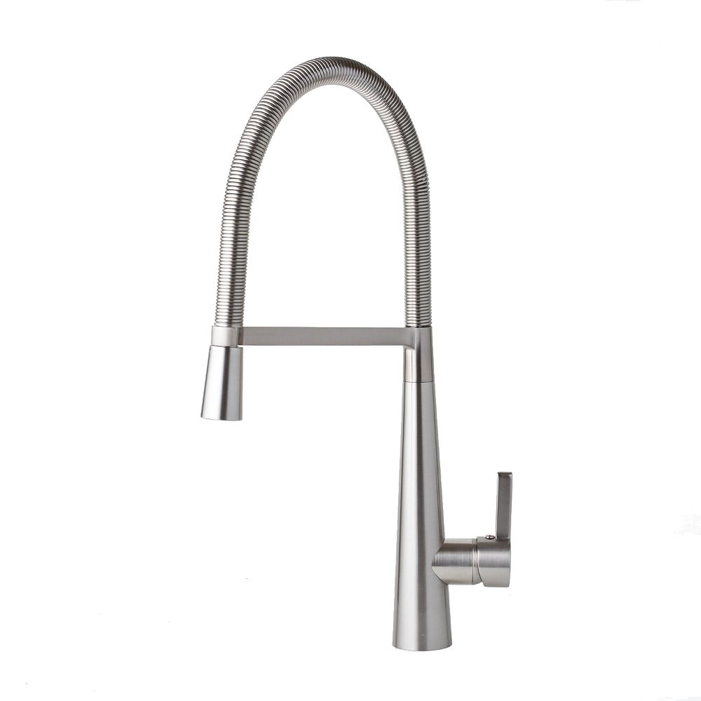 Image of AGUZZO Bello Kitchen Mixer Tap - Brushed Nickel Finish