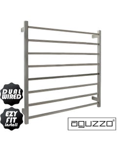 EZY FIT Heated Towel Rail - Square Tube - Dual Wired - (W900mm x H920mm) - Polished SS