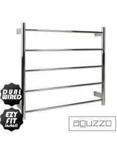 aguzzo round tube 700x750 dual wired heated towel rail
