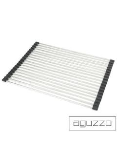 aguzzo stainless steel rods rollable drainer tray large