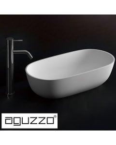 aguzzo amelia deep oval shaped limestone bathroom basin