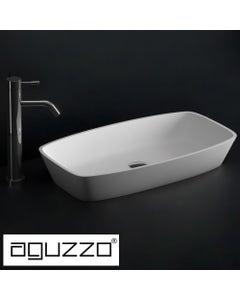 aguzzo brennero rounded rectangle shaped limestone bathroom basin