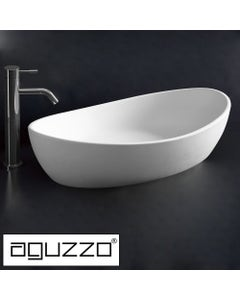 aguzzo pisa oval with curved edges limestone bathroom basin