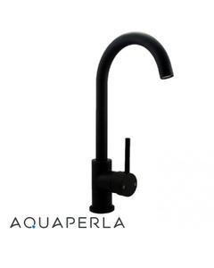 aquaperla-Round-Matte-Black-Kitchen-Sink-Mixer-Tap