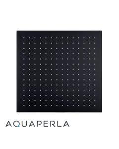 Square Black Brass Rainfall Shower Head 300mm front