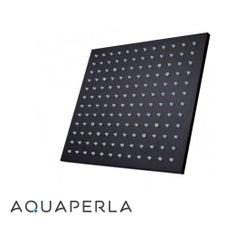 Square Black LED Rainfall Shower Head 250mm