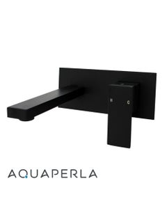 black bathtub wall mixer with spout branded