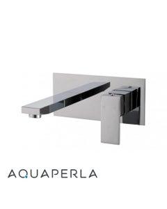 Blaze Chrome Bathtub/Basin Wall Mixer With Spout facing left