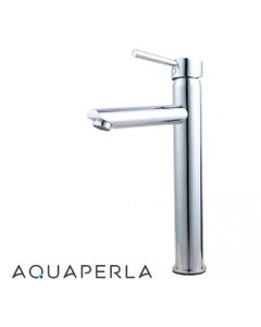 Echo Round Chrome Basin Mixer Tall perspective facing left