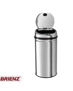 Round Kitchen Bin - Auto Sensor - 42 Litre Freestanding Stainless Steel Bin