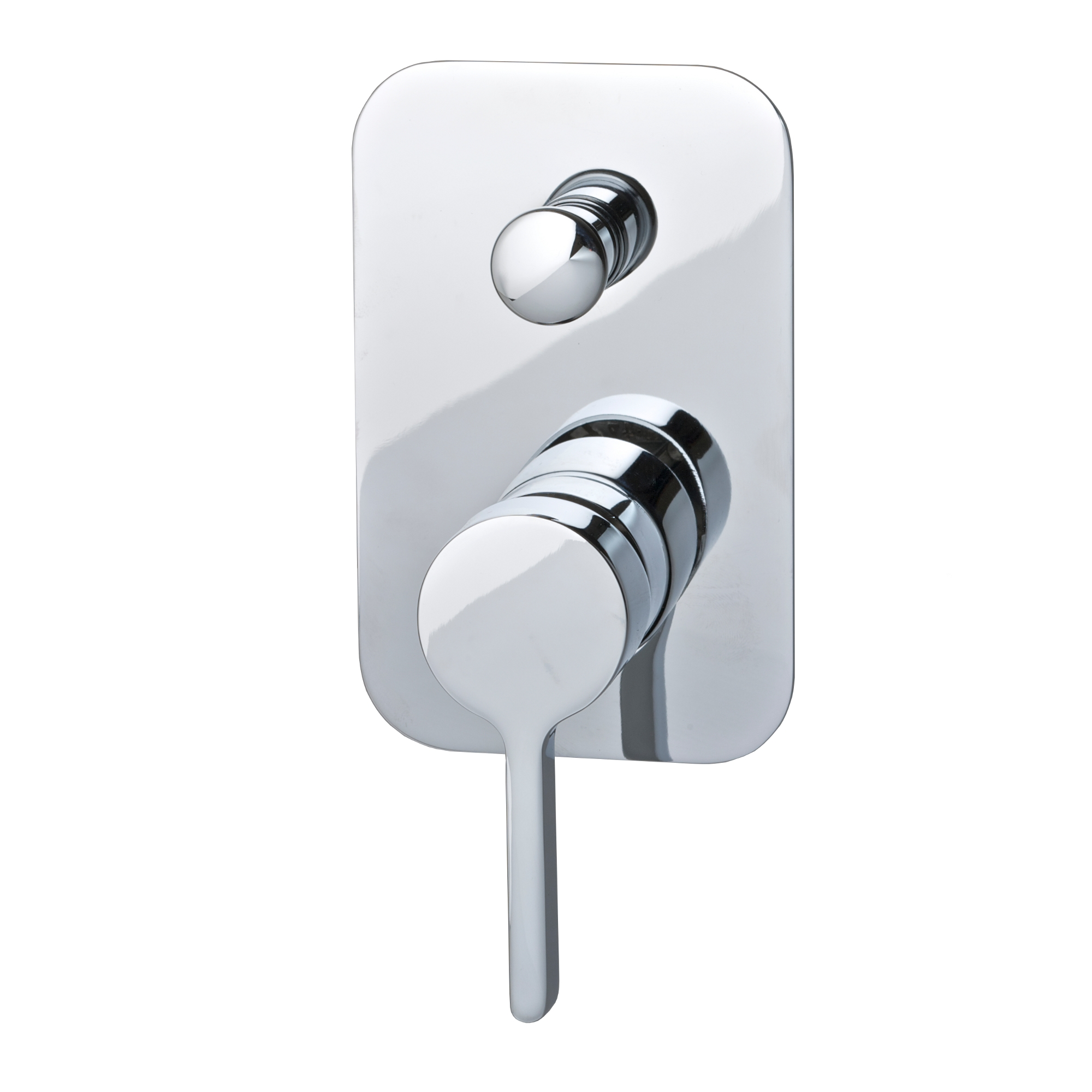 Brighton Wall Mounted Shower Mixer with Diverter - Chrome or Matte Black