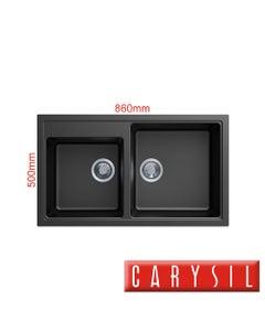 carysil vivaldi n200 granite kitchen sink matte black