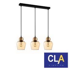 ellipse glass black pendant lights