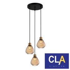 wine glass pendant lights amber E27