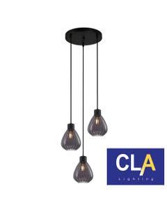 wine glass pendant lights smoked E27