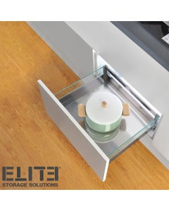 compact 450mm glass drawers for kitchen counters