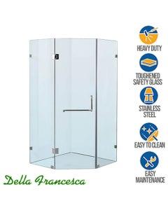 corner frameless glass shower screen 1000x1000mm