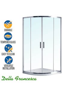 curved sliding glass shower screen with integrated base