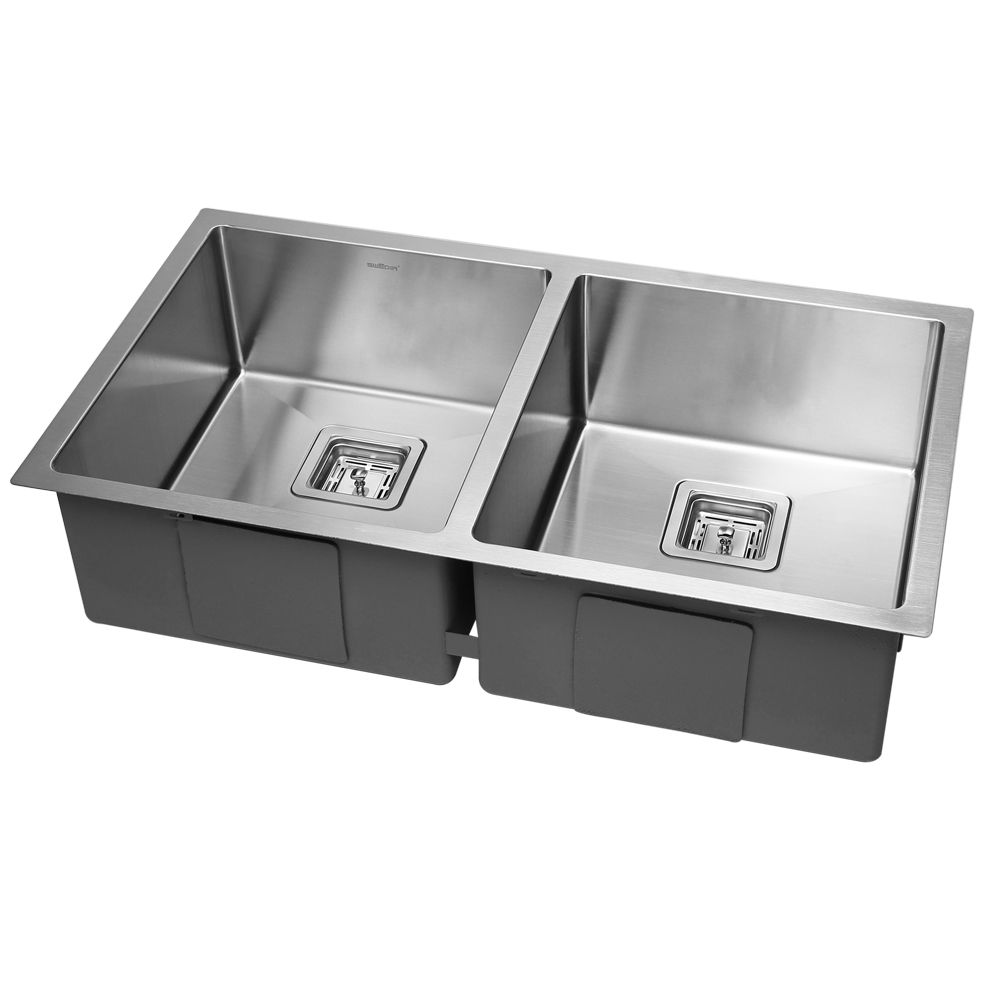 the swedia dante double bowl stainless steel sink is a designer sink ...