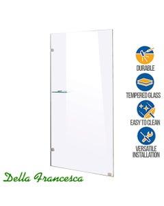 della francesca 800x2000mm single panel toughened safety glass shower screen