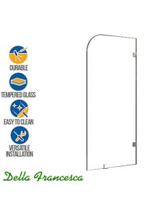 della francesca 700 x 1450mm Frameless Single Panel Safety Glass Shower Screen